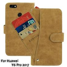 Vintage Leather Wallet For Huawei Y6 Pro 2017 5 Case Flip Luxury Card Slots Cover Magnet Stand Phone Protective Bags vintage leather wallet echo dune 5 case flip luxury card slots cover magnet stand phone protective bags