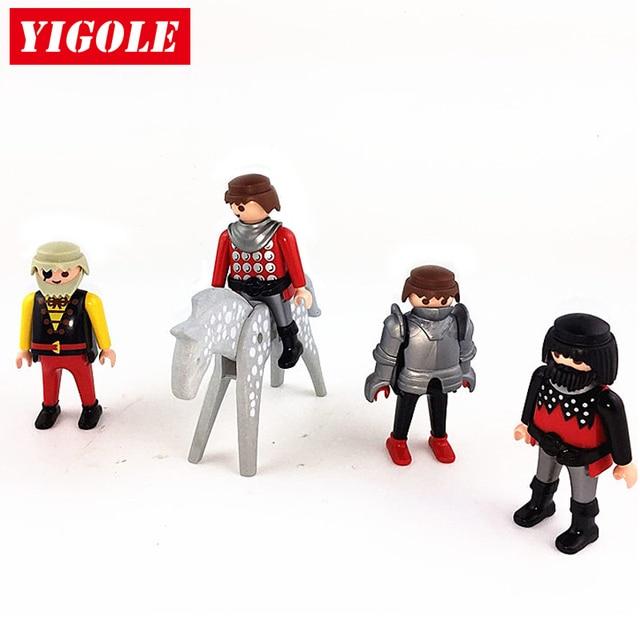 original playmobil chevalier chteau 4 chiffres 1 cheval ensemble enfants meilleure action figure jouets cadeau - Playmobile Chevalier
