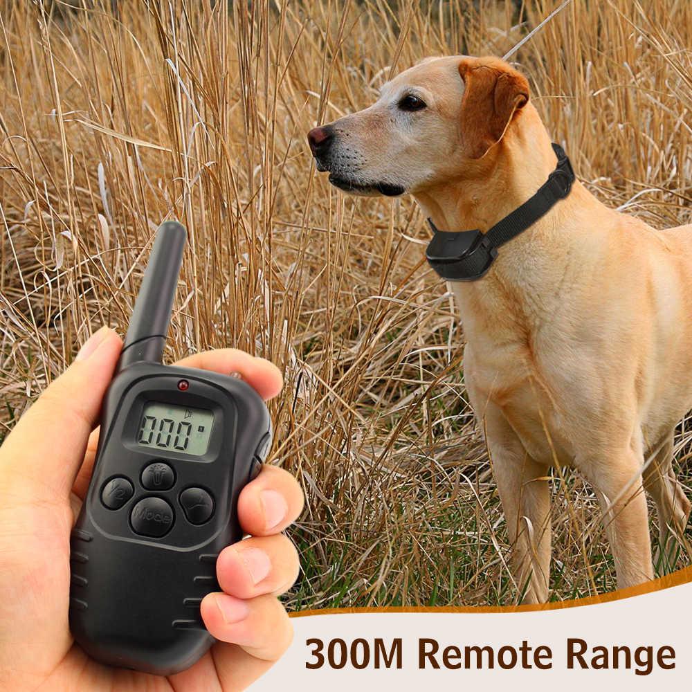 Petrainer 998D-1 300M wyświetlacz LCD pilot statyczny szok ANTI BARK obroża treningowa dla zwierząt