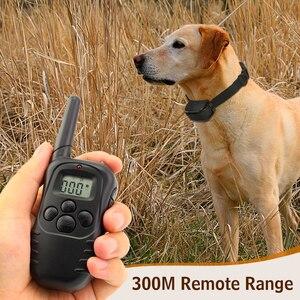 Image 2 - Petrainer 998d 1 300 m lcd 디스플레이 원격 제어 정적 충격 안티 나무 껍질 개 애완 동물 훈련 칼라