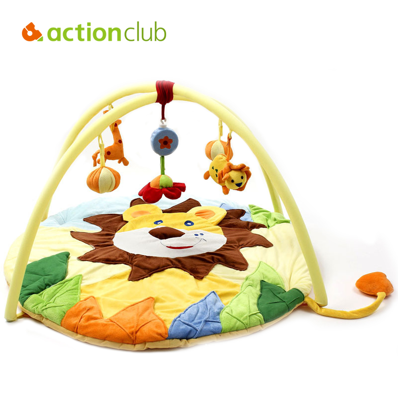 Actionclub Baby Play Mat 0-1 Year Baby Toy Tapete Infantil Educational Crawling Mat Music Game Play Gym Blanket Lion Carpet