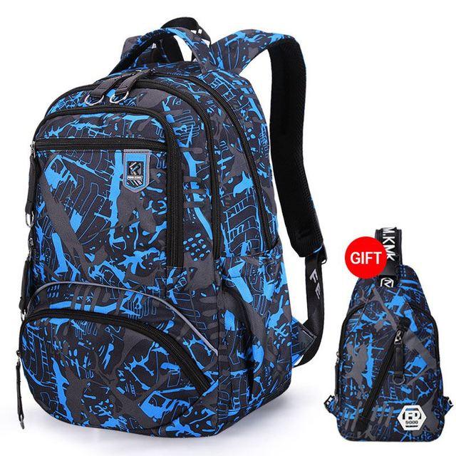 adfe7f323e42 компл. водонепроницаемый рюкзак в стиле Оксфорд для мужчин новинка 2019  года школьные ранцы подростков мальчиков колледж