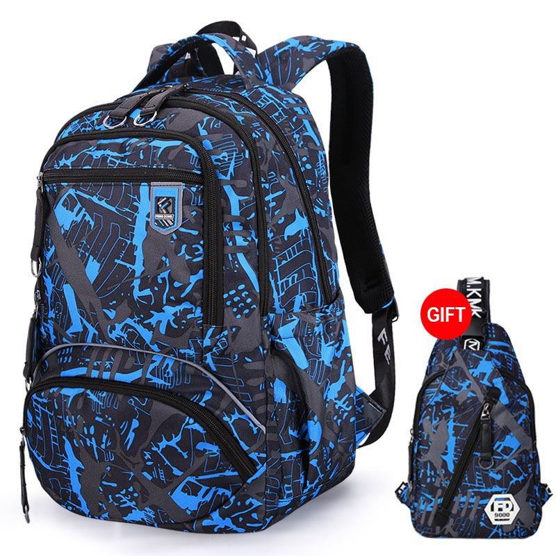 2pcs/set waterproof oxford backpack men 2019 new school bags for teenage boys bookbag college large capacity laptop backpack image