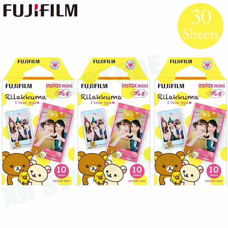 Fujifilm Instax Mini 8 9 Film Rilakkuma beer Fuji Instant Photo Paper 30 Sheets For 70 7s 50s 50i 90 25 Share SP-1 2 Camera