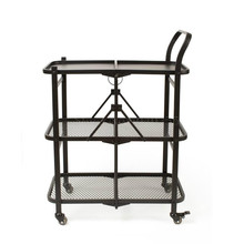 Household folding dining cart trolley mobile dining car hotel commercial trolley bathroom living room wine cart rack