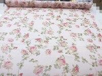 Customized 114cm Width Pink Flower Leave Real Silk Chiffon Satin Cotton Gauze Cloth Fabric Shirt Coat