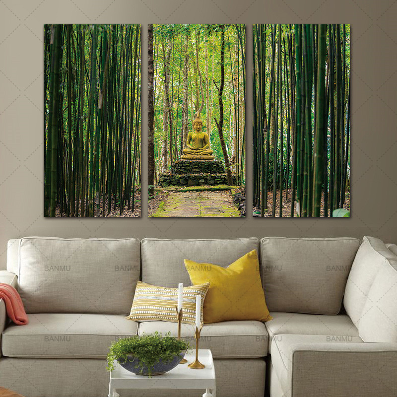 Modern Canvas Painting Wall Art Pictures 3 Panels Framed