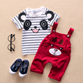 Baby Children's Clothing For Boy And Girl Cotton Overalls Panda Short-sleeved Summer Suit 1-5 Years Of Age