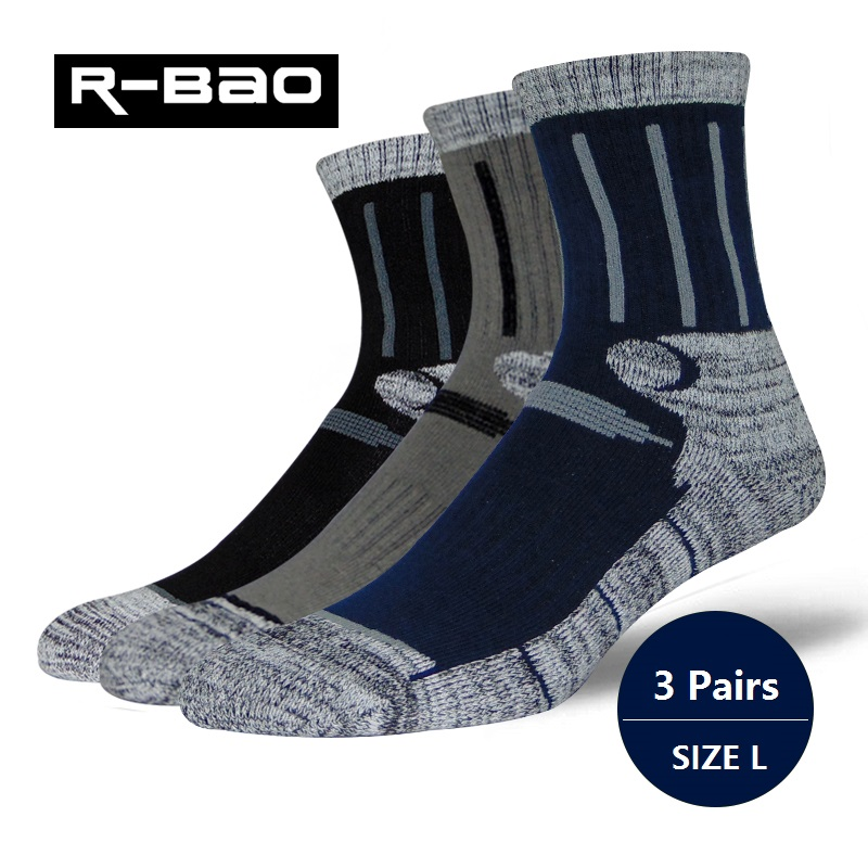 RB036 Men/Women Outdoor Hiking/Skiing Socks High-quality Thick Terry Deodorant Sports Running Socks for Winter 3pairs=1Lot