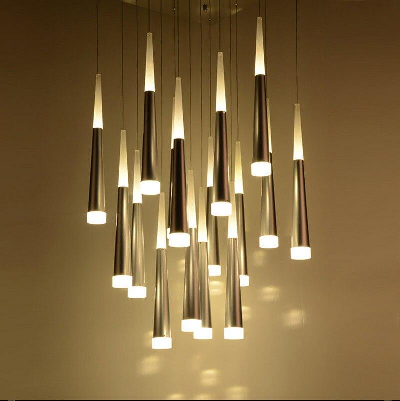 ZYY Post Modern Simple Restaurant Chandelier Art Lights Meteor Shower Villa Stairs Light Living Room Bedroom LED Chandelier