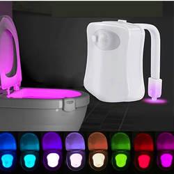 Умная Ночная подсветка Сенсор подсветка для унитаза 8 цветов Подсветка активированный унитаз светодиодный бумажный фонарик ночник ПИР