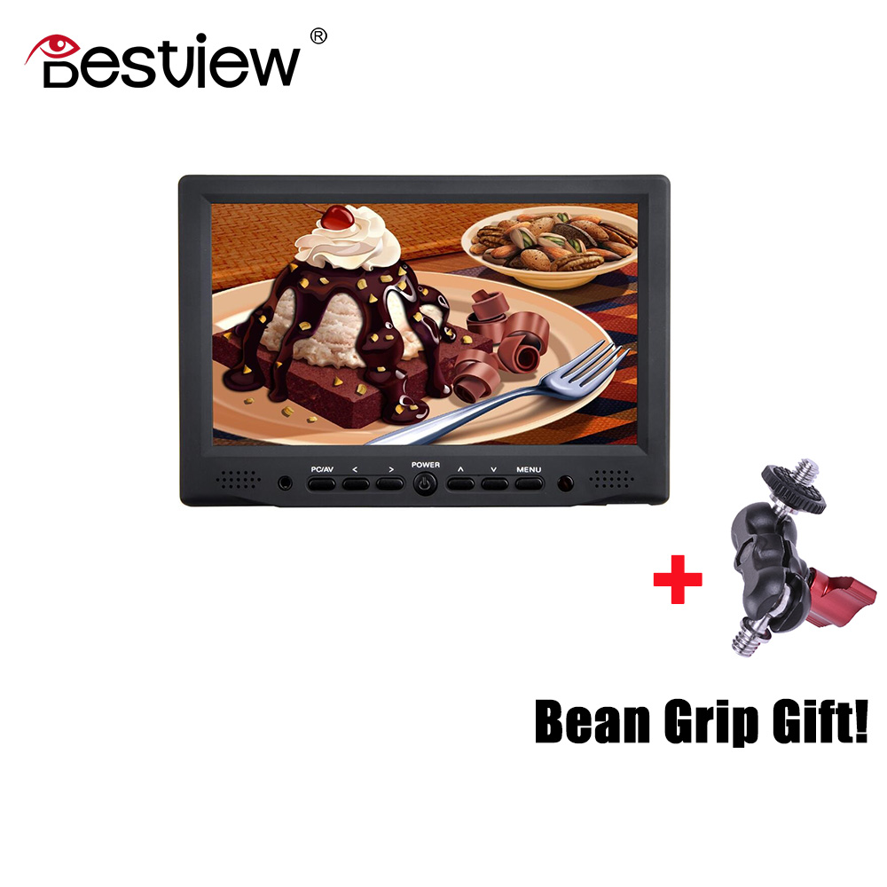 BESTVIEW BSY708M camera HDMI/VGA/VIDEO/AUDIO Input HD monitor HDMI in video TFT field 7 inch DSLR lcd monitor 800*480