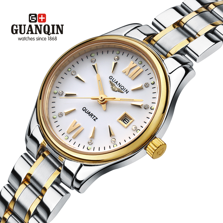 ФОТО Brand GUANQIN women's watches quartz watch women quartz-watch crystal vintage business relogio feminino classic sapphire