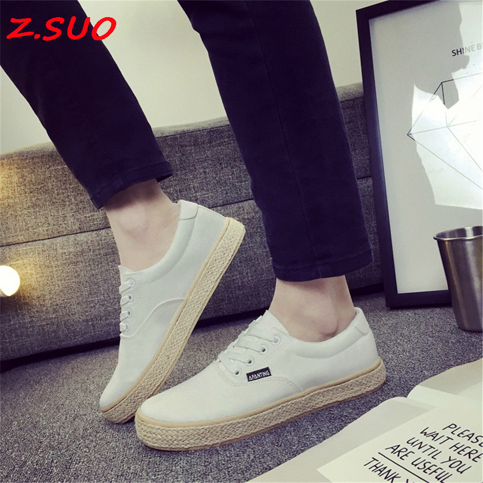 2017 Spring And Autumn New Models Selling Fashion Men'S Canvas Shoes Tendon At The End Of Straw Casual Men'S Shoes