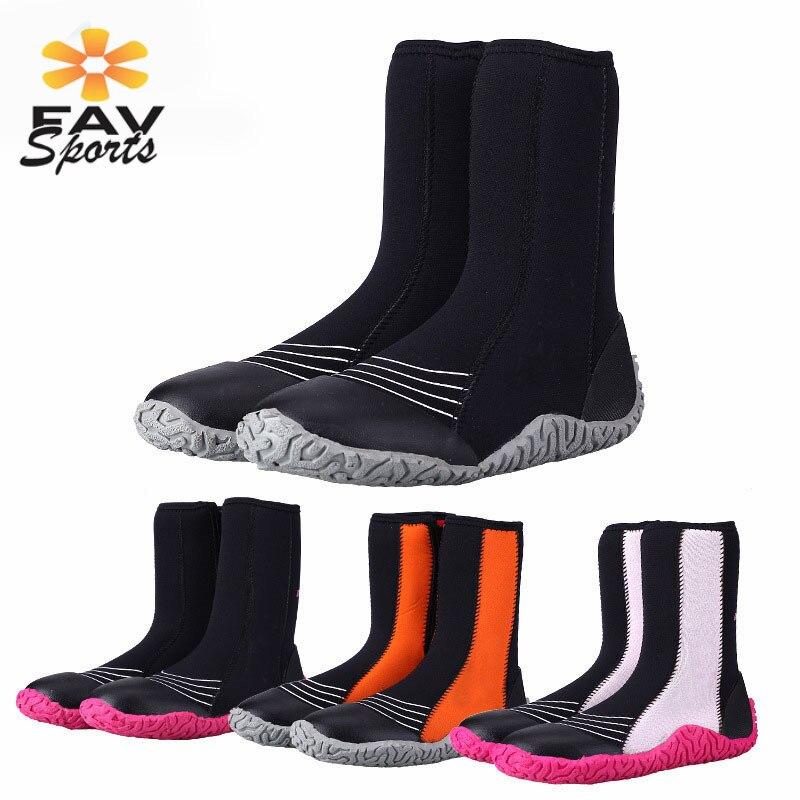 5mm néoprène chaussures de plongée femmes/hommes Sports nautiques natation palmes surf bottes pour plage natation chaussures de plongée en apnée