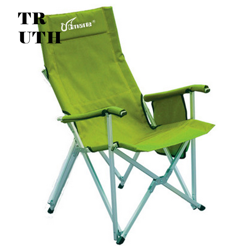 Authentic CMARTE outdoor aluminum folding camping fishing portable leisure backrest recliner armchair outdoor moon chair folding aluminum fishing portable backrest painting canvas camping recliner