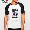 Cuba Fidel Castro Hombre Camiseta de La Manga de Raglán Homme Hombre El Sueño Del Futuro Funny T Shirt Men Casual Fashion Streetwear MaleFu