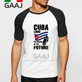 Cuba Fidel Castro Man T-Shirt Raglan Sleeve Homme Man The Dream Of The Future Funny Casual T Shirt Men Fashion Streetwear MaleFu