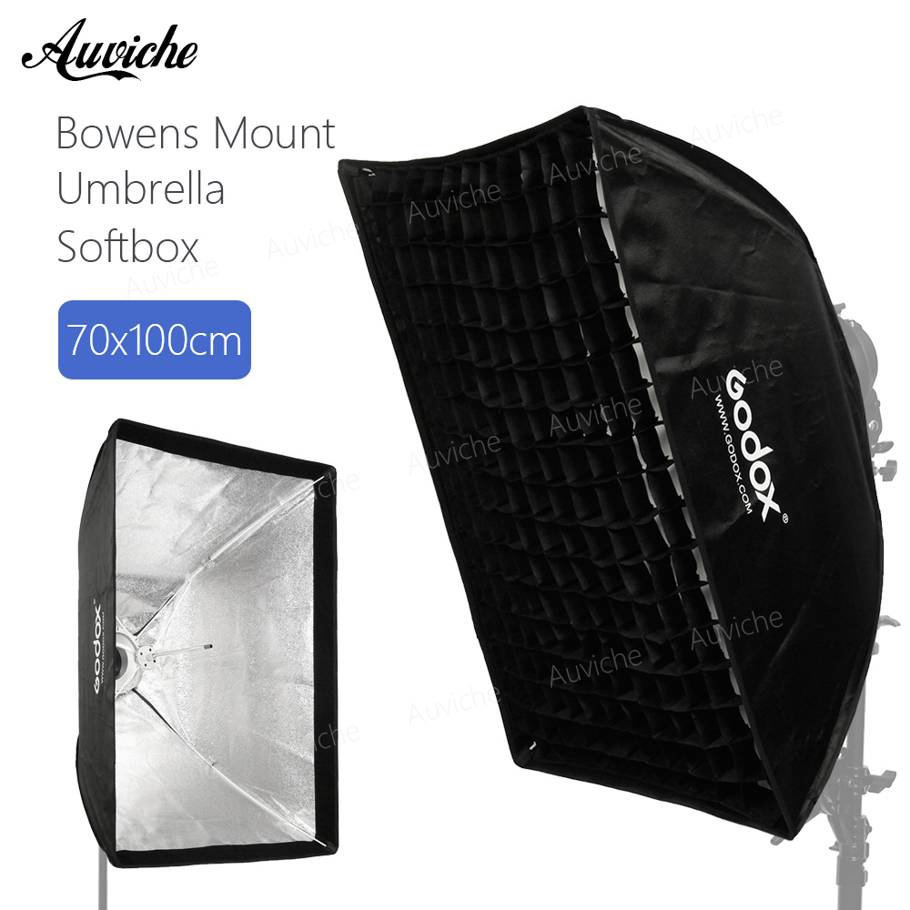Godox 70x100cm Bowens Mount Honeycomb Grid Umbrella Softbox soft box with Bowens Mount for Bowens Mount Studio Flash Light godox 120cm octagon flash speedlite studio photo light soft box w grid honeycomb umbrella softbox bowens mount