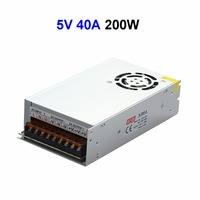 20pcs DC5V 40A 200W Switching Power Supply Transformer With Fan For LED Display LCD Monitor CCTV