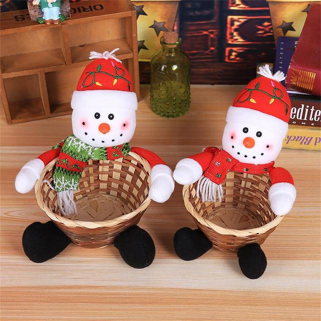 christmas candy basket childrens candy box decoration santa claus storage basket gift party christmas decorations candies