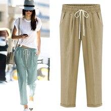 M-5XL 6XL 7XL plus size women Harem pants, long cotton linen trousers leggings, casual linen pants hip hop