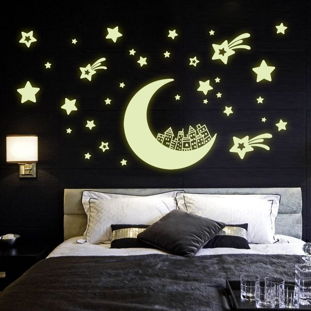 Aliexpress.com : Buy Moon house and Star Fluorescence