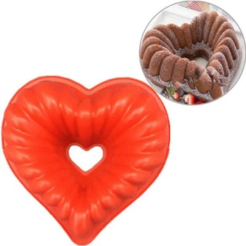 Heart Shape Silicone Baking Molds Easy To Use Suitable For Freezing and Baking Pastry
