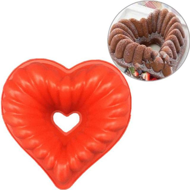 Love Heart Shape Cake Mold Silicone Freezing and Baking Pastry Molds Mousse Bread Mould Bakeware DIY Non-Stick Cake Pan