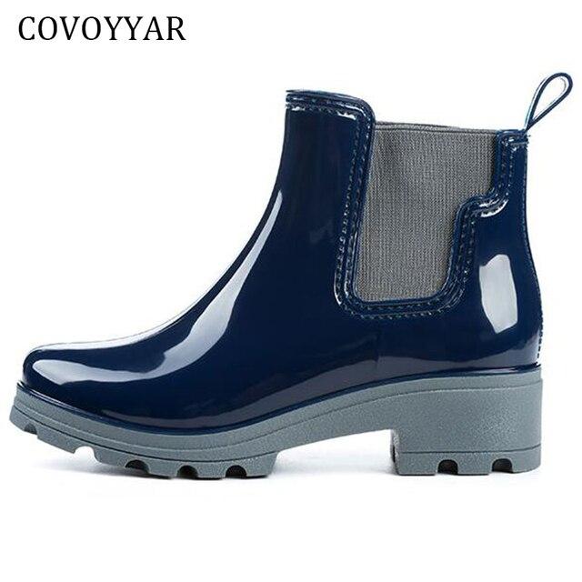 b02b3ed15c846 2019 Botas de lluvia de agua zapatos de goma para las mujeres de moda banda  elástica