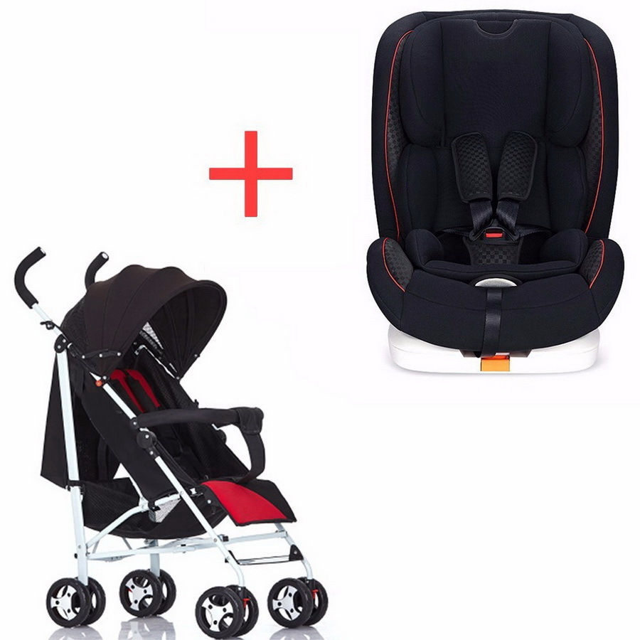 Free delivery child safety chair 9 person month 0-3-4-12 year old baby car seat and cart combination RU child safety seat car baby car seat 9 12 years old 3c certified chair and stroller combination set sy 215 5