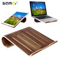 SAMDI Vogue Laptop Cooling Pad Refrigerador Titular de Soporte De Madera De Madera soporte universal dock para macbook air pro retina ipad pro aire