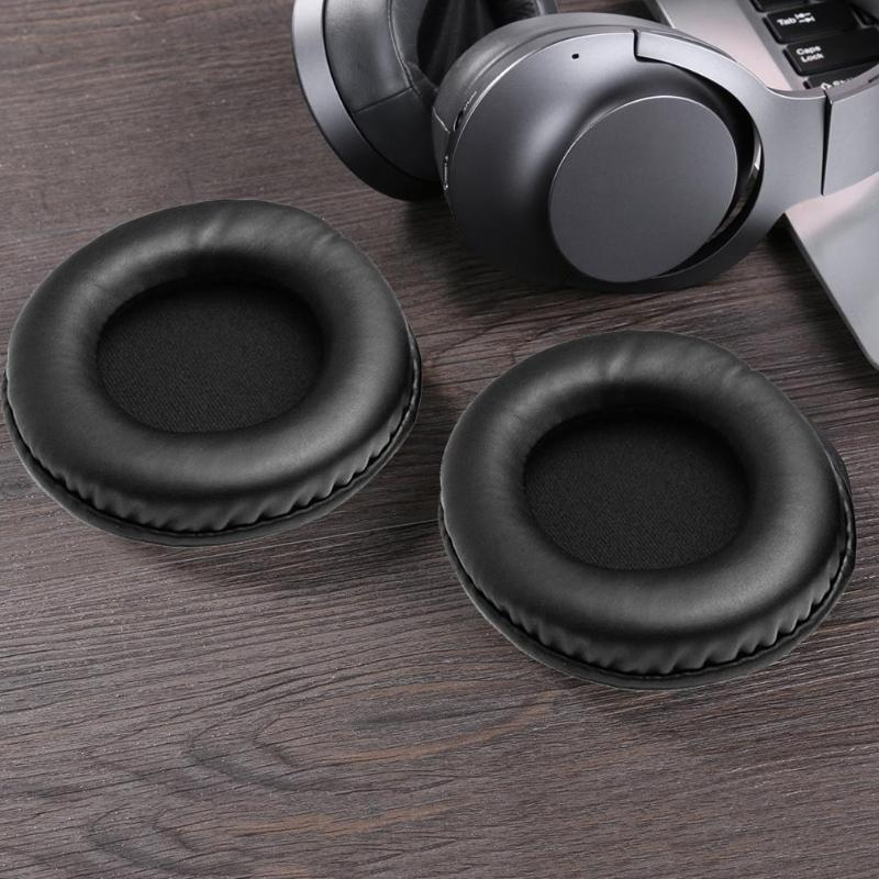 1 Pair <font><b>95mm</b></font> Universal <font><b>Replacement</b></font> Earpads Headphone Cushion PU Soft Foam <font><b>Ear</b></font> <font><b>Pads</b></font> Protein Leather Headset Cushion Cover Earpads image
