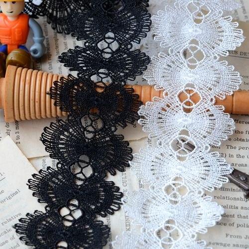 Кружевные аксессуары черные белые двусторонние аксессуары для одежды водорастворимые кружева шириной 5 см