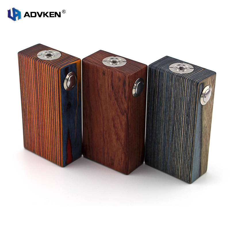 100 Authentic Mechanical Mod 18650 Wooden Box Mod Wooden V3 By Advken for Dual 18650 Battery
