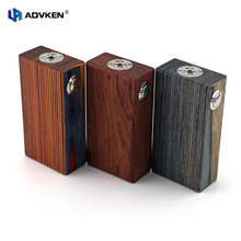 100% Authentic Mechanical Mod 18650 Wooden Box Mod Wooden V3 By Advken for Dual 18650 Battery Mechanical Wood Box Mod