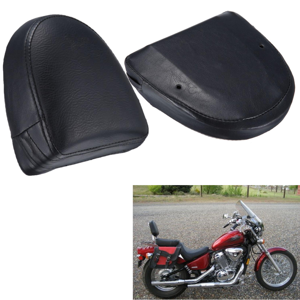 Universal Motorcycle Sissy Bar Backrest Black Seat Cushion Pad For Harley Choppers Touring Custom Cruiser Synthetic Leather