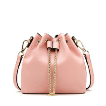 Women Mini Bag Fashion Popular Chain String Bucket Bags Sweet Girls Pink Bag Summer Green Single Shoulder Bag Silver Handbags princess sweet lolita bag original summer retro and fashion single shoulder bag students soft sister mini square bag lld027