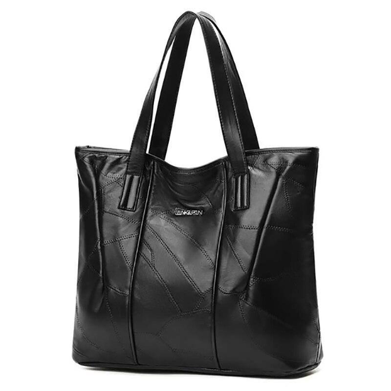 Autumn And Winter New Solid Color Sheepskin Retro Fashion Ladies Leather Handbags