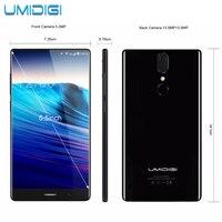 UMIDIGI Crystal 4G Phablet 2GB RAM Version Smartphone 16GB ROM MTK6737T Dual Rear Cameras Fingerprint Scanner
