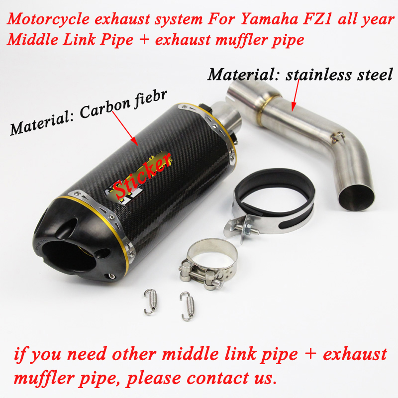 51MM Univerial Motorcycle Middle Section Exhaust Pipe Modified Silencer Lossless Link
