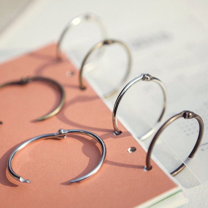 10pcs/pack Metal Easy Ring Paper Book Loose Leaf Binder Bronze Silver Ring Keychain Key Ring garda decor набор бокалов для молодоженов page 6