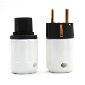Image 3 - Preffair HI End 24K Gold Plated Schuko Power Plug European Plug Adapter Schuko Type for Germany, France, Europe, Russia