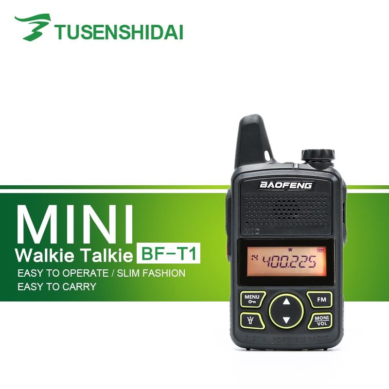 Original Baofeng BF-T1 Walkie Talkie UHF 400-470MHz 20CH 1W Mini Small Two Way Radio