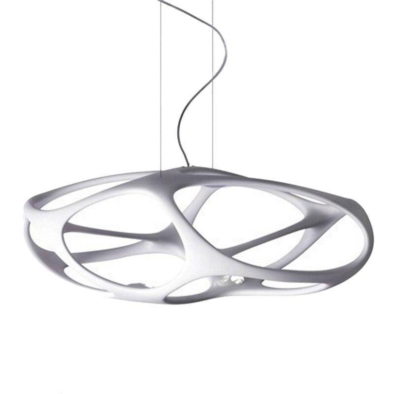 Black/White/Red Modern Nordic Led Light Fixtures Resin Pendant Lamps Design for Office Restaurant Kitchen Room Indoor Lighting