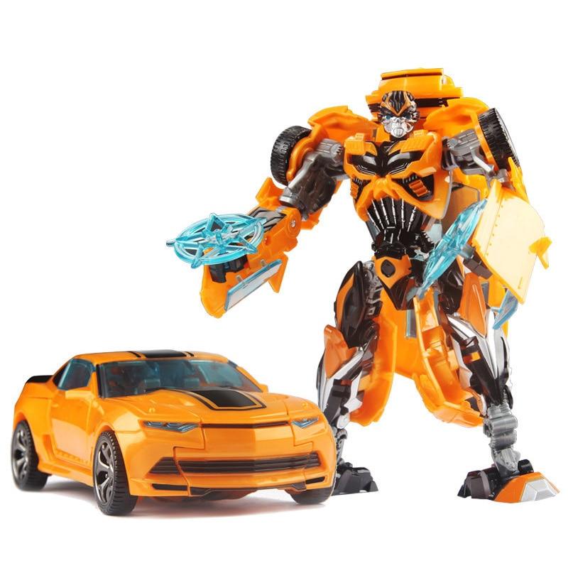 19 см трансформация автомобиля Робот Игрушки Шмель Оптимус Прайм Мегатрон Десептиконы Джаз Коллекция фигурка подарок для детей - Цвет: A