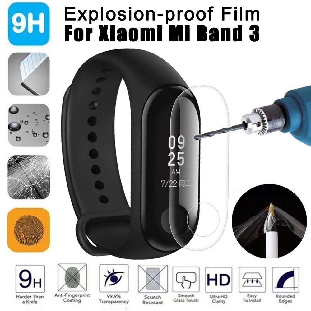 5 Pcs Explosion-proof LCD TPU Full Cover Screen Protector Film For Xiaomi Mi Band 3 SmartWatch Sporting Goods Accessories стоимость