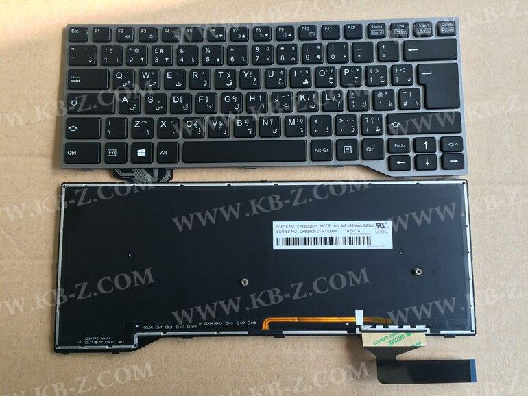 NEW ar Arabic backlight Keyboard For Fujistu Lifebook e743 E733 E744 CP629225-01 MP-12S36A0JD85W with backlight Laptop Keyboard