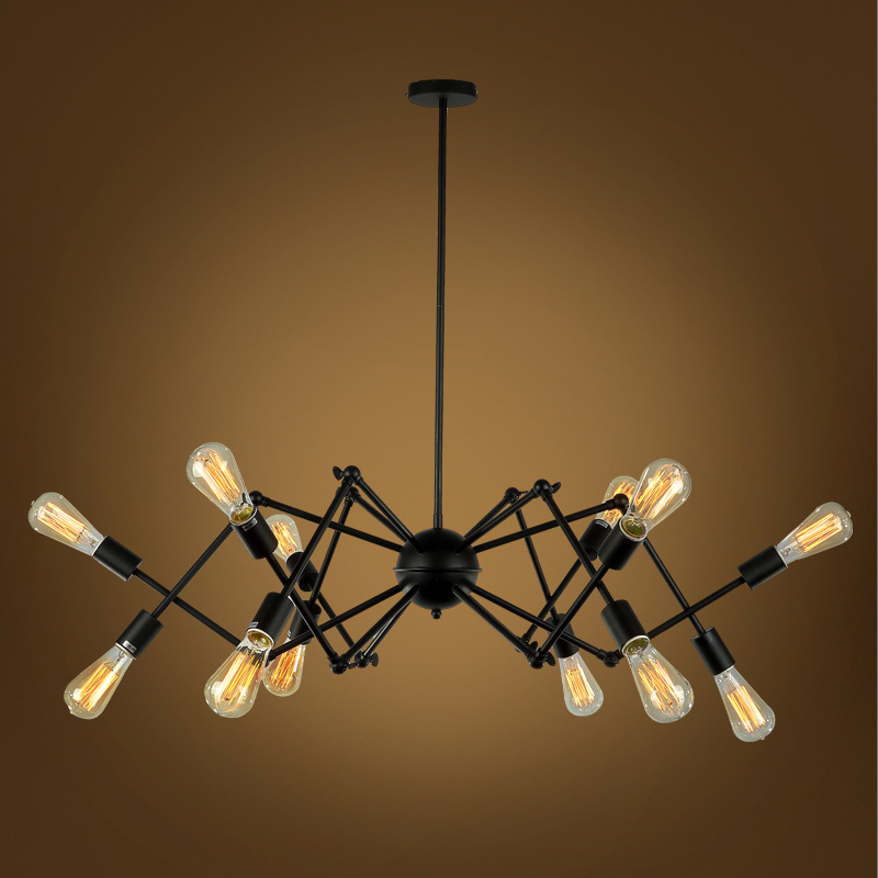 10 style Mordern American industry spider pendant lamp satellite lights restaurant stairs aisle balcony chandeliers ZDD0045 american pastoral style brazier porch lamp aisle lights balcony restaurant chandelier lamp