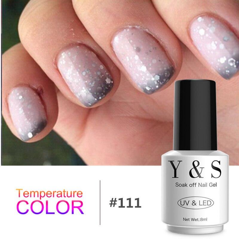 Y&S Temperature Changing Gel Color UV Gel Nail Polish Nail Gel LED UV Soak Off Long Lasting Gel Polish 60 Colors For Choose